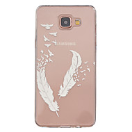 For Samsung Galaxy etui Transparent Mønster Etui Bagcover Etui Fjer TPU for Samsung A5(2016) A3(2016)