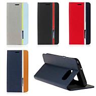 Varten Samsung Galaxy S7 Edge Tuella / Flip Etui Kokonaan peittävä Etui Linjat / aallot Tekonahka SamsungS7 edge / S7 / S6 edge plus / S6