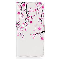 Voor Samsung Galaxy S7 Edge Kaarthouder / Portemonnee / met standaard / Flip / Patroon hoesje Volledige behuizing hoesje Bloem PU-leer