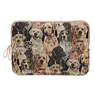 sød hund design lærred laptop sleeve taske ultrabook cover til MacBook Air 11,6 / 13,3 macbook 12 macbook pro / 13.3