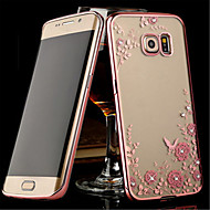 Para Samsung Galaxy S7 Edge Case Tampa Transparente Capa Traseira Capinha Flor PUT para SamsungS8 S8 Plus S7 edge S7 S6 edge plus S6 edge