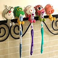 PVC Cartoon szívó fogkefetartó (Random Color)