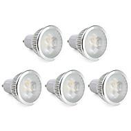 6W GU10 LED 스팟 조명 MR16 3 고성능 LED 310 lm 따뜻한 화이트 밝기 조절 AC 220-240 V 5개