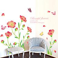 Romantik / Mote / Blomster / Landskap Wall Stickers Fly vægklistermærker,PVC 60*90CM
