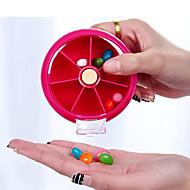 Pilleboks/etui til rejsebrug Bærbar for Rejsenødhjælp Plastik-Orange Fersken Rose Rød Grøn Blå