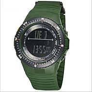 SYNOKE Herre Armbåndsur Digital LCD Kalender Kronograf Vannavvisende alarm Selvlysende Gummi Band Blå Rosa Gul