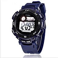 SYNOKE Herre Sportsklokke Armbåndsur Digital Watch Digital LCD Kalender Kronograf Vannavvisende alarm Selvlysende Gummi Band Svart