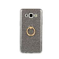 For Samsung Galaxy etui Ringholder Etui Bagcover Etui Glitterskin Blødt TPU for Samsung J7 (2016) J5 (2016) J3 J3 (2016)