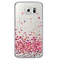 Για Samsung Galaxy Θήκη Διαφανής / Με σχέδια tok Πίσω Κάλυμμα tok Καρδιά Μαλακή TPU Samsung S6 / S5 / S4