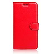 Voor Alcatel hoesje Kaarthouder / met standaard / Flip hoesje Volledige behuizing hoesje Effen kleur Hard TPU AlcatelAlcatel Flash Mini