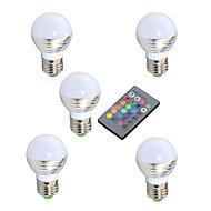 3W E14 GU10 E26/E27 Lâmpada Redonda LED A50 1 LED de Alta Potência 150-250 lm RGB Sensor infravermelho Regulável Controle Remoto