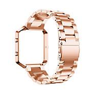 Musta / Rose / Kulta / Hopea Ruostumaton teräs / Metalli Perinteinen solki Varten Fitbit Katsella 23mm