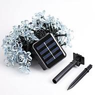 1kpl 5m 50led aurinkoenergiaa jono valoa loma osapuolen häät johti christmas valaistus