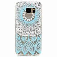 For samsung galaxy s7 edge s7 blå mønster tpu telefon veske s5 mini s5