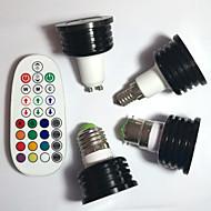 4W E14 / GU10 / B22 / E26/E27 LED 스팟 조명 MR16 1pcs 고성능 LED 400 lm RGB 밝기 조절 / 음향 작동 / 리모컨 작동 / 장식 V 1개