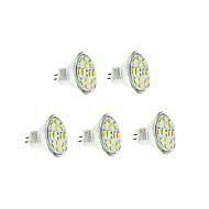 3w gu4 (mr11) ledede glødelamper 12 smd 5730 250-300 lm varm hvid / kølig hvid dc 12 v 5 stk