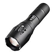 E17 LED taskulamput Käsivalaisimet LED 2000 Lumenia 5 Tila Cree XM-L T6 Säädettävä fokus varten Telttailu/Retkely/Luolailu