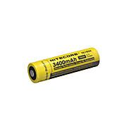 nitecore nl1834 3400mah 3.7v 12.6wh 18650 li-ion genopladeligt batteri