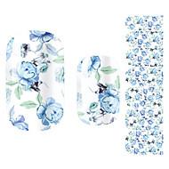 꽃/러블리 - 핑거 - 3D 네일 스티커 - 이 외 14.5*7.5*0.1