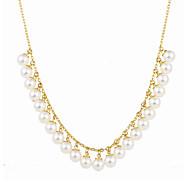 Κολιέ Μαργαριταρένια Κρεμαστά Κολιέ Κοσμήματα Ειδική Περίσταση Flower Shape Μοναδικό Λογότυπο Κρεμαστό Μαργαριτάρι Κράμα 1pc Δώρο Χρυσαφί
