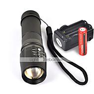 W-878 LED taskulamput Käsivalaisimet LED 2200 Lumenia 5 Tila Cree XM-L T6 Lipsumaton kädensija varten Telttailu/Retkely/Luolailu
