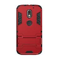 Mert Ütésálló Állvánnyal Case Hátlap Case Egyszínű Kemény PC mert Motorola Moto X Play Moto G3 MOTO G4 Moto G4 Plus