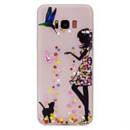 Na Stras Świecące w ciemności Wzór Kılıf Etui na tył Kılıf Seksowna dziewczyna Kot Miękkie TPU na Samsung S8 S8 Plus S7 edge S7