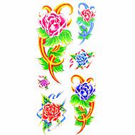 타투 스티커 꽃 시리즈 패턴 허리 아래 Waterproof여성 남성 Teen 플래시 문신 임시 문신