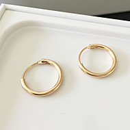 Női Francia kapcsos fülbevalók Fülbevaló Divat minimalista stílusú jelmez ékszerek Ötvözet Circle Shape Ékszerek Kompatibilitás Napi
