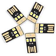 Ywxlight® 5pcs 0.5w 3led 5v 2835smd 22lm usb led lampen voor laptop pc power bank witte lichten mini zaklamp