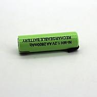 Ni-mh 1.2v και 2800 mAh επαναφορτιζόμενη μπαταρία