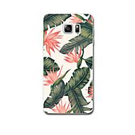 Mert tokok Ultra-vékeny Minta Hátlap Case Virág Puha TPU mert Samsung Note 5 Note 4 Note 3