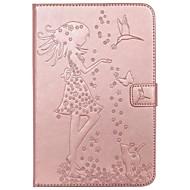 Dla skrzynki pokrywy portfel karty portfel z podstawą flip wytłoczony pełny case przypadku sexy lady cat motyl twardy pu skóry dla ipad