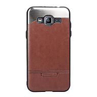 Samsung Galaxy j3 j3 (2016) lefedik a bot bőr stick fém mobiltelefon tokok
