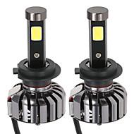 kkmoon pari h7 dc 12v 40w 4000lm 6000K johti ajovalolamppu kit hehkulamput