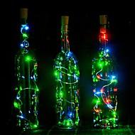 1 stuks 2m 20 led korkvormig geleide nacht sterrenlicht koper draadstopper wijn fles lamp decoratie koel warm wit kleurrijk