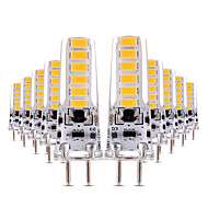 4W 2-pins LED-lampen T 12 SMD 5730 300-400 lm Warm wit Koel wit Dimbaar Decoratief AC 12 V 10 stuks