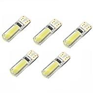 2w dc12v branco t10 2cob canbus lâmpada decorativa lâmpada de leitura placa de luz luz porta lâmpada 5pcs