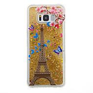 Voor Samsung Galaxy S8 Plus s8 case cover toren patroon flash poeder quicksand tpu materiaal telefoon hoesje s7 rand s7 s6 rand s6 s5