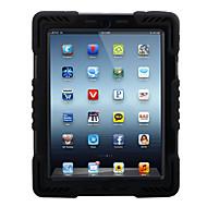 Apple iPad 4/3/2 iskunkestävä jalustalla kokovartalo tapauksessa 3d sarjakuvahahmo kova PC silikonilla