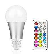 12W Smart LED-lampe A60(A19) 15 Integreret LED 700-800 lm RGB + Varm RGB + Hvid Dæmpbar Fjernstyret Dekorativ V 1 stk.