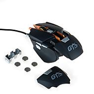 High-end 4000dpi ožičeni igraći miš makro definicija vodio usb miš s podesivim dodatne težine dio mehanički metalni miš