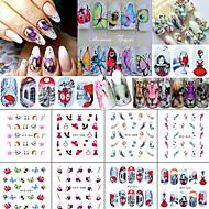 12 아트 스티커 네일 아트 데코/레트로 3-D DIY 용품 스티커 메이크업 화장품 아트 디자인 네일