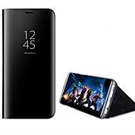 Hoesje voor Samsung Galaxy A3 (2017) a5 (2017) met standplating Spiegel Flip Auto Slaap Wakker Volle Body Solid Color Hard PC A7 (2017)