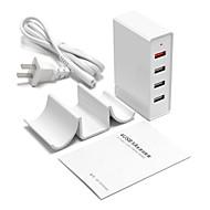 USB töltő 4 port Íróasztal töltőállomás A Quick Charge 3.0-mal Állvány dokkoló Univerzális Töltőadapter
