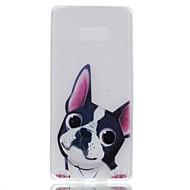 hoesje voor samsung notitie 8 cover gloeien in de donkere achterkussentas hond soft tpu