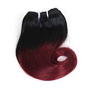 Ombre Düz Brezilya Saçı Dalgalı Doğal Dalgalar Vücut Dalgası 1 Yıl 4 saç örgüleri 0.1 kilogram Hızlı Dalgalar