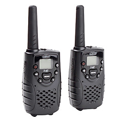premium 22-canale GMRS FRS Walkie Talkie (interval 5 km, 2-pack, negru)