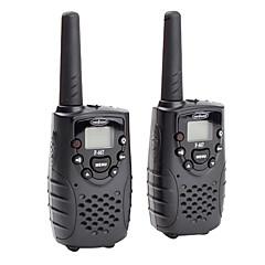 premium 22-kanaals GMRS FRS walkie talkie (5km range, 2-pack, zwart)
