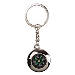 metalli hopea viileä kompassi avaimenperä